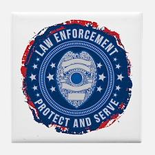 Law Enforcement Seal of Safety Tile Coaster
