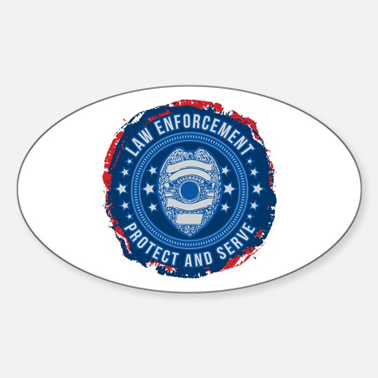 Law Enforcement Seal of Safety Sticker (Oval)