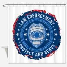 Law Enforcement Seal of Safety Shower Curtain