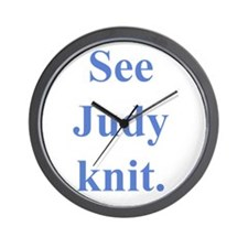 Judy Knits Wall Clock