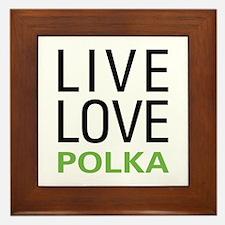 Live Love Polka Framed Tile