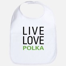 Live Love Polka Bib