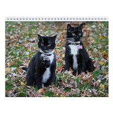 Kitties-Sisters-5 Wall Calendar