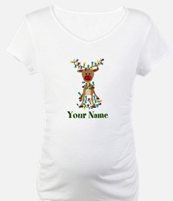 Adorable Reindeer CUSTOM Baby Name Shirt