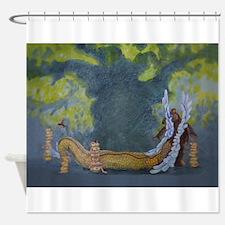 Dragon In Panorama Shower Curtain