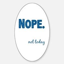 Funny Nope Sticker (Oval)
