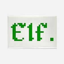 8-bit Elf Retro Gamer Vintage Pixel Art Magnets
