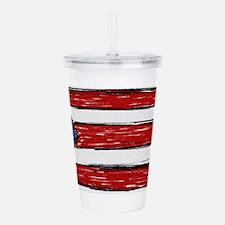 Puerto Rican Flag Acrylic Double-wall Tumbler