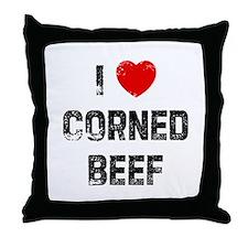 I * Corned Beef Throw Pillow