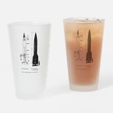 A4 Rocket Drinking Glass