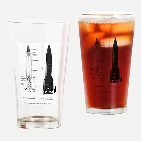 A4 Rocket Drinking Glass