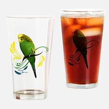 English Budgie Drinking Glass