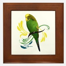 English Budgie Framed Tile