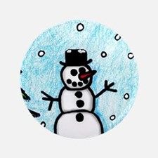 """Snowman Greetings 3.5"""" Button (100 pack)"""