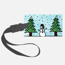 Snowman Greetings Luggage Tag