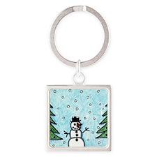 Snowman Greetings Keychains