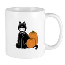 Black Cat and Pumpkins Mug