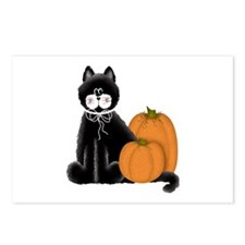 Black Cat and Pumpkins Postcards (Package of 8)
