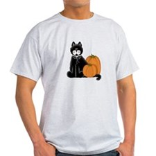 Black Cat and Pumpkins T-Shirt