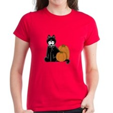Black Cat and Pumpkins Tee