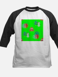 christmas poop emoji Baseball Jersey