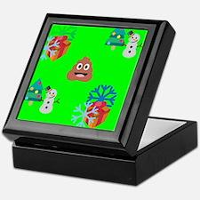 christmas poop emoji Keepsake Box
