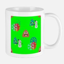 christmas poop emoji Mugs
