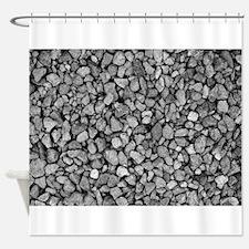Unique Gray stone Shower Curtain