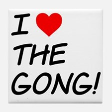 I Heart The Gong Tile Coaster