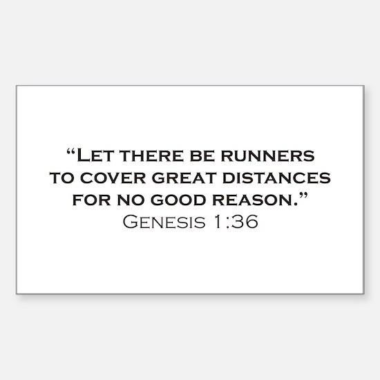 Runner / Genesis Sticker (Rectangle)