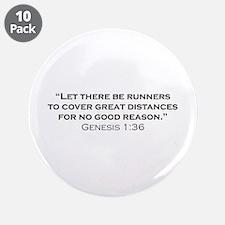 """Runner / Genesis 3.5"""" Button (10 pack)"""