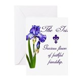 Purple iris flower Greeting Cards (20 Pack)