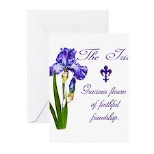 Cute Fleur de lis holiday Greeting Cards (Pk of 20)