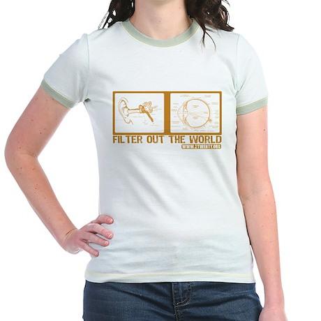 Filter Out The World Jr. Ringer T-shirt