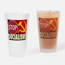 Stop Socialism Drinking Glass