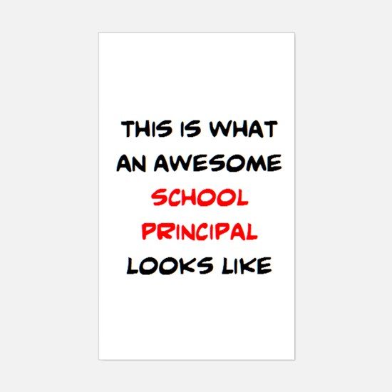 awesome school principal Sticker (Rectangle)