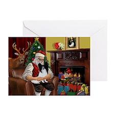 Santa's Papillon Greeting Cards (Pk of 20)