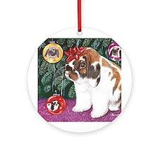 Christmas Rabbit Round Ornament