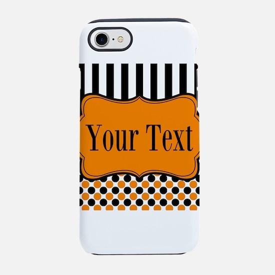 Personalizable Orange and Black iPhone 8/7 Tough C