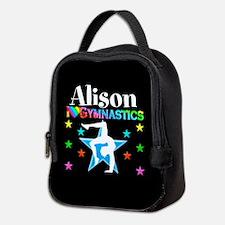 Blue Gymnastics Neoprene Lunch Bag
