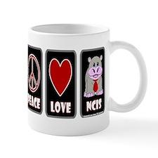 PEACE LOVE NCIS Mugs