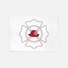 Fireman Logo 5'x7'Area Rug