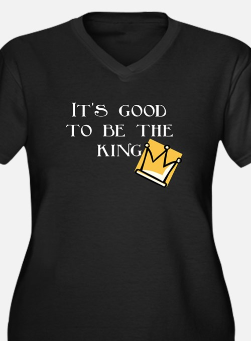 It's good to be... Women's Plus Size V-Neck Dark T