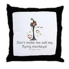 Flying Monkeys Throw Pillow