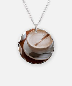 Funny Latte art Necklace