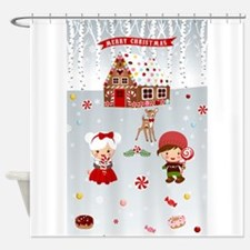 gingerbread house CandyLand Shower Curtain