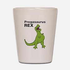 T-rex Pregnant Humor Shot Glass