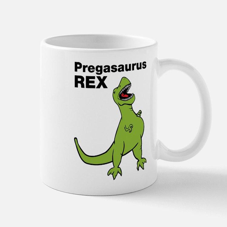 T-rex Pregnant Humor Mugs