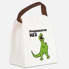 T-rex Pregnant Humor Canvas Lunch Bag