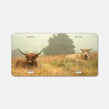 Cute Cow totes Aluminum License Plate